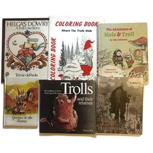 Vintage Trolls & Gnome 6 Book Bundle